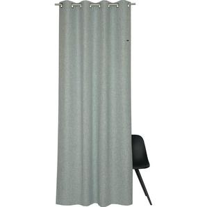 Vorhang »Harp«, Esprit, Ösen (1 Stück), HxB: 250x140, Blickdicht, mit Lederlabel, (BxH) 140 x 250 cm