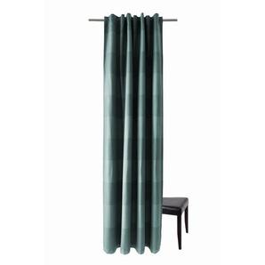 Vorhang, HOMING, Homing Schlaufenschal Galdin Stripe 140x245 Vorhang Schlafzimmer petrol Gardine