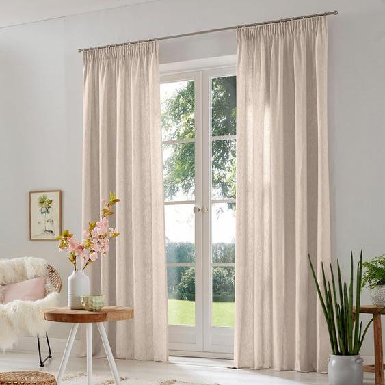 Vorhang, Lazy, Home affaire, Multifunktionsband 2 Stück 2, H/B: 175/135 cm, halbtransparent, beige Schlafzimmergardinen Gardinen nach Räumen Vorhänge Gardine