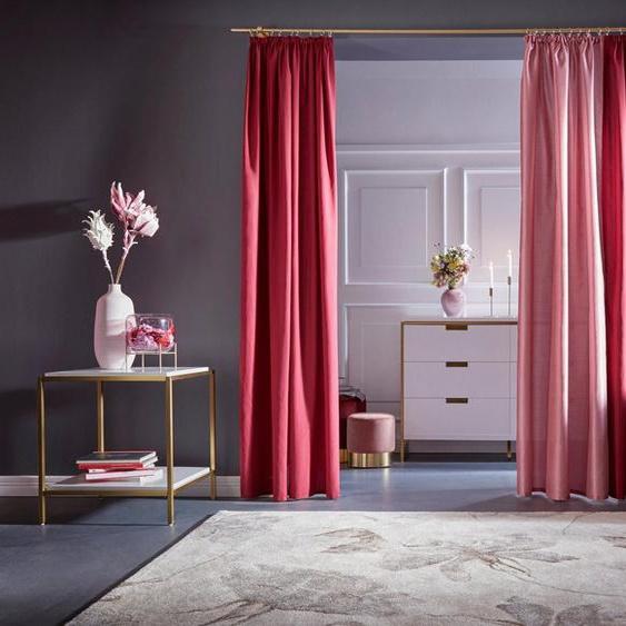 Vorhang »Leticia«, Home affaire, Kräuselband (2 Stück), Gardine, Fertiggardine, halbtransparent