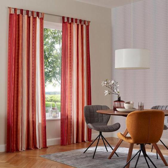 Vorhang »Macias«, my home, Schlaufen (2 Stück), Gardine, Fertiggardine, halbtransparent