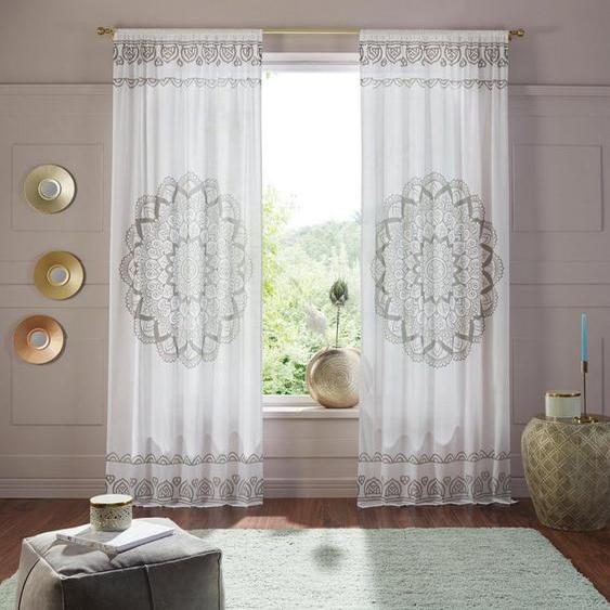Vorhang »Mandala«, Home affaire, Stangendurchzug (1 Stück)
