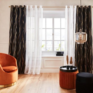 Vorhang »Prag«, Guido Maria Kretschmer Home&Living, Ösen (1 Stück), Verdunkelungsvorhang, mit Foliendruck, democratichome Edition