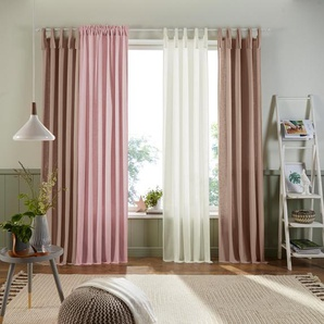 Vorhang »Trier«, Home affaire, Multifunktionsband (1 Stück), Bio-Baumwolle
