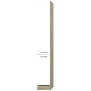 Vorratsschrank  Carrara   weiß   30 cm   207 cm   60 cm  