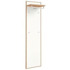 Voss V100 Garderobenpaneel LED Holz 44x29x183cm Eiche Bianco/Weiß