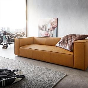 W.Schillig Bigsofa Around the Block 260x105 Gelb Echtleder Federkern by W. Schillig, Big Sofas