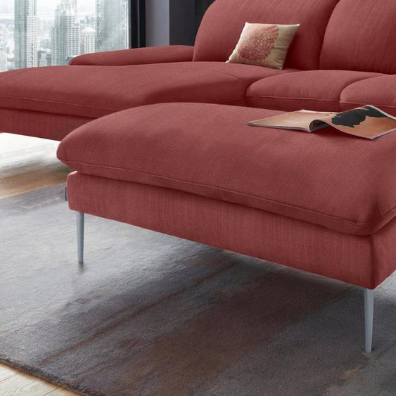 W.SCHILLIG Hocker »enjoy&MORE«, Füße silber matt, Breite 106 cm