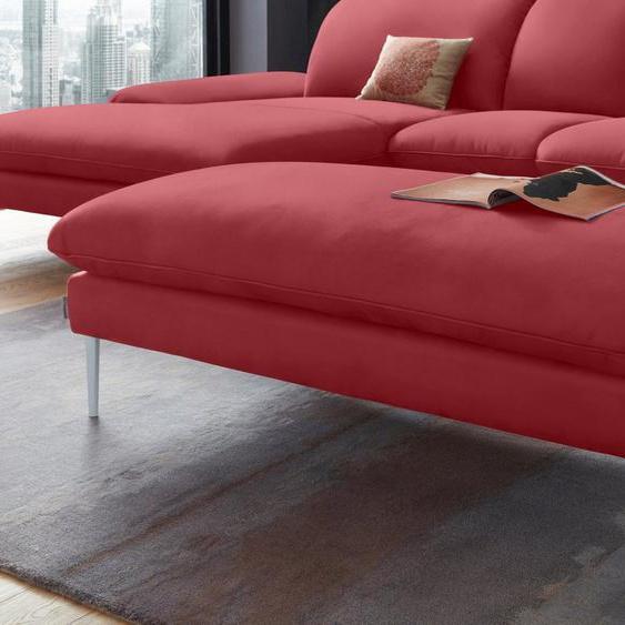 W.SCHILLIG Hocker »enjoy&MORE«, Füße silber matt, Breite 151 cm