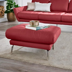 W.SCHILLIG Hocker »softy«, mit dekorativer Heftung im Sitz, Füße Chrom glänzend