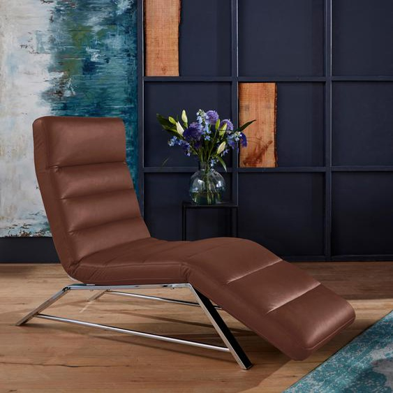 W.SCHILLIG Relaxliege daily dreams Longlife Xtra-Leder Z69, 65 cm, Manuell braun Relaxliegen Sessel Sofas