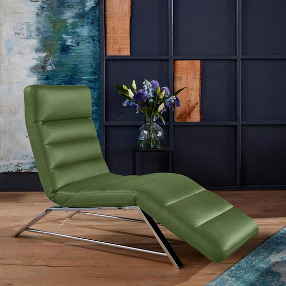 W.SCHILLIG Relaxliege daily dreams Longlife Xtra-Leder Z69, 65 cm, Mit Doppelmotor & Akku grün Relaxliegen Sessel Sofas