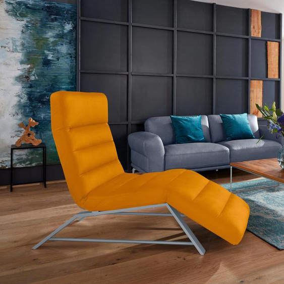 W.SCHILLIG Relaxliege daily dreams Stoff S37, 65 cm, Mit Doppelmotor gelb Relaxliegen Sessel Sofas