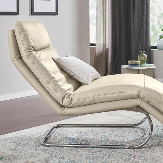 W.SCHILLIG Relaxliege jill Longlife Xtra-Leder Z73, 80 cm beige Relaxliegen Sessel Sofas
