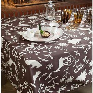 Wachstuch-Tischdecke Berg aus 100% Baumwolle