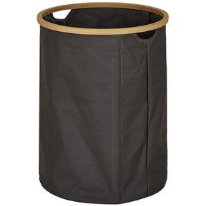 Wäschekorb ¦ braun ¦ Polyester, Bambus ¦ Maße (cm): H: 52 Ø: 38 Aufbewahrung  Wäscheaufbewahrung - Höffner