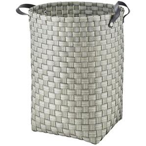 Wäschekorb ¦ grau ¦ Kunststoff, Metall ¦ Maße (cm): H: 49 Ø: 40 Aufbewahrung  Wäscheaufbewahrung - Höffner