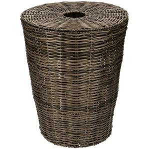 Wäschekorb mit Deckel ¦ braun ¦ Kunststoff ¦ Maße (cm): H: 50 Ø: 40 Aufbewahrung  Wäscheaufbewahrung - Höffner