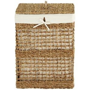 Wäschekorb mit Deckel ¦ braun ¦ Seegras, Baumwolle, Eisen ¦ Maße (cm): B: 39 H: 54,5 T: 27,5 Aufbewahrung  Wäscheaufbewahrung » Höffner