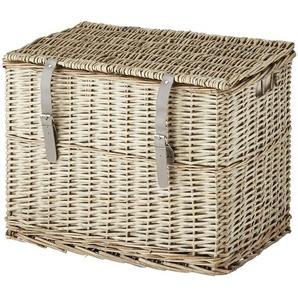Wäschekorb mit Deckel ¦ braun ¦ Weide ¦ Maße (cm): B: 56 H: 37,5 T: 44 Aufbewahrung  Wäscheaufbewahrung » Höffner