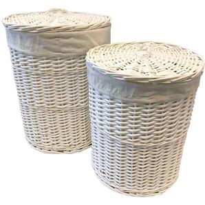Wäschekorb-Set aus Korbgeflecht