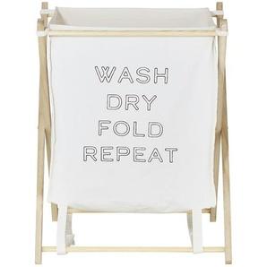 Wäschekorb  wash dry fold repeat ¦ creme ¦ Paulownia ¦ Maße (cm): B: 46 H: 59 T: 43 Aufbewahrung  Wäscheaufbewahrung - Höffner