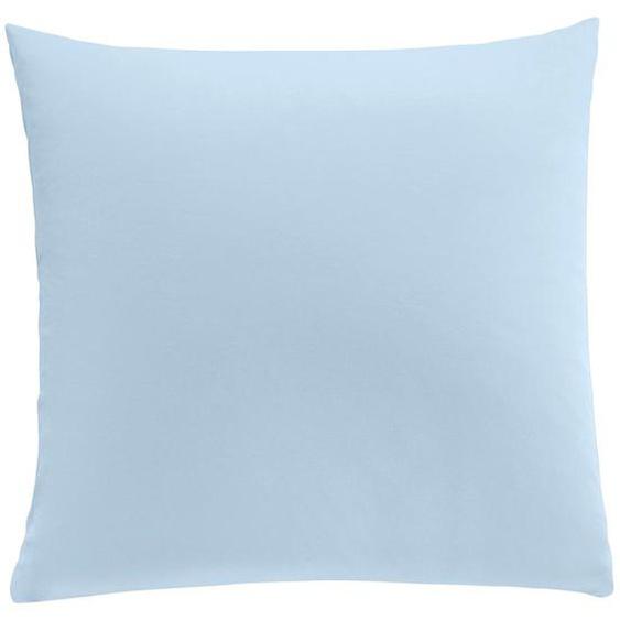 wäschepur Kissenbezüge, (2 St.) 5, 2x80/80 cm, Interlock-Jersey blau Kissenbezüge uni Kissen Bettwäsche