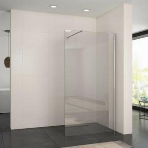 Walk In Duschabtrennung Dusche Duschkabine 76x200cm NANO ESG Glas Duschwand