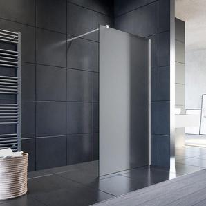 Walk In Dusche Duschwand Duschabtrennung Duschkabine mit Stabilisator Nano ESG Glas 10mm 120x200cm vollsatiniert