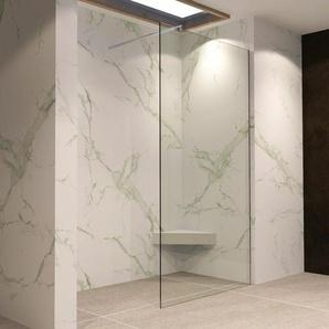 Walk In Dusche Duschwand Duschabtrennung Klarglas Edelstahl 140x200cm 10mm W740 - I-FLAIR