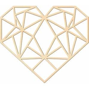 andas Holzkunst Pappel »Origami Herz«, 50/43 cm