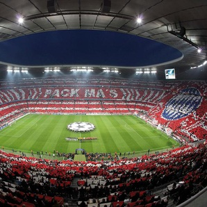 Wall-Art Fototapete Bayern München Stadion Choreo Pack Mas B/L: 4,8 m x 3,5 bunt Fototapeten Tapeten Bauen Renovieren