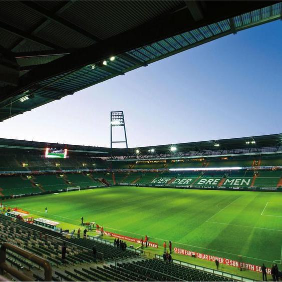 Wall-Art Fototapete Werder Bremen - Weserstadion Innen Maße (B/H): (336/260 cm) bunt Fototapeten Tapeten Bauen Renovieren