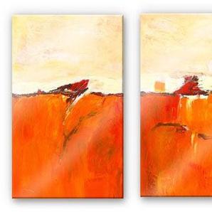 Wall-Art Mehrteilige Bilder Abstrakte Herbstdeko (3-teilig), (Set, 3 St.) B/H/T: 70 cm x 0,4 100 bunt Bilderrahmen Wohnaccessoires