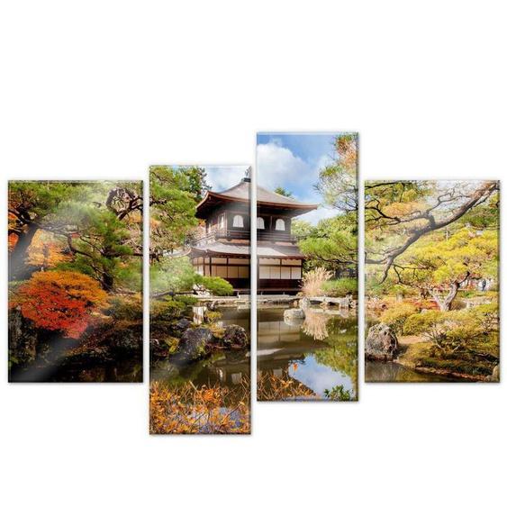 Wall-Art Mehrteilige Bilder Japanischer Tempel (4-teilig), (Set, 4 St.) Einheitsgröße bunt Bilderrahmen Wohnaccessoires