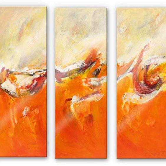 Wall-Art Mehrteilige Bilder Leidenschaft abstrakt (3-teilig), (Set, 3 St.) B/H/T: 60 cm x 0,4 150 bunt Bilderrahmen Wohnaccessoires