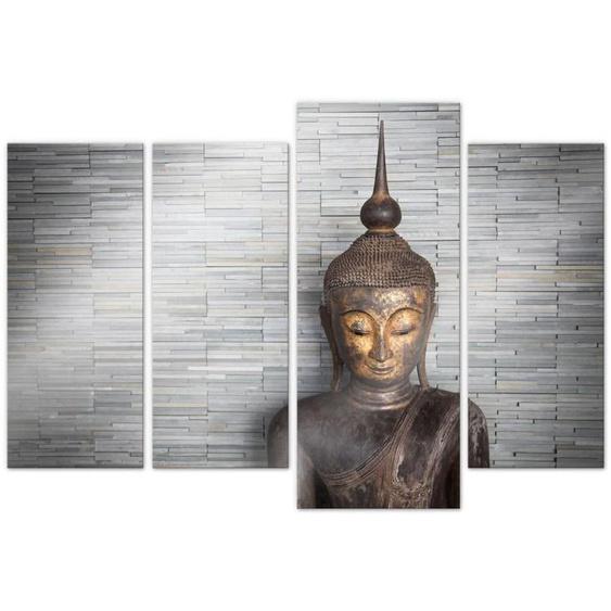 Wall-Art Mehrteilige Bilder Thailand Buddha Set (4-teilig), (Set, 4 St.) B/H/T: 216 cm x 150 0,4 bunt Bilderrahmen Wohnaccessoires