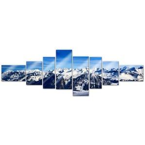 Wall-Art Mehrteilige Bilder XXL Alpen Panorama (8-teilig), (Set, 8 St.) Einheitsgröße bunt Bilderrahmen Wohnaccessoires
