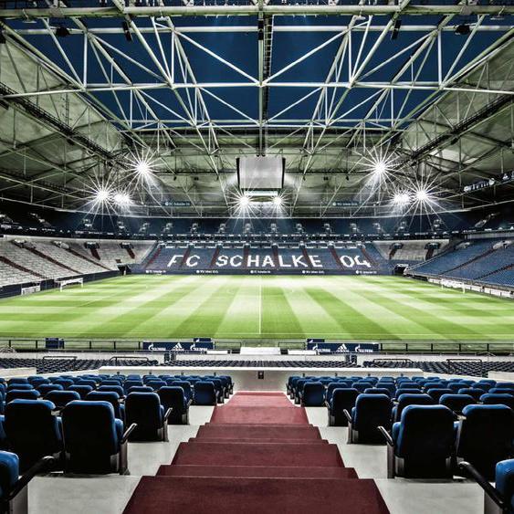 Wall-Art Vliestapete Schalke 04 Arena Tribüne Maße (B/H): (384/260 cm) bunt Fototapeten Tapeten Bauen Renovieren