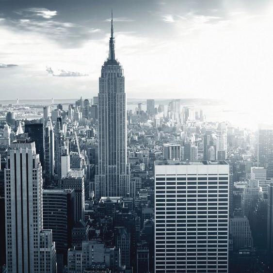 Wall-Art Vliestapete The Empire State Building Maße (B/H): (240/260 cm) grau Fototapeten Tapeten Bauen Renovieren