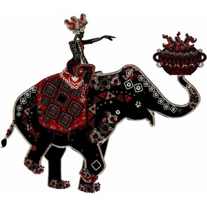 Wandtattoo »Metallic Elephant Ride«
