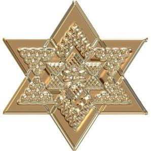 Wandtattoo »Metallic Star Gold«