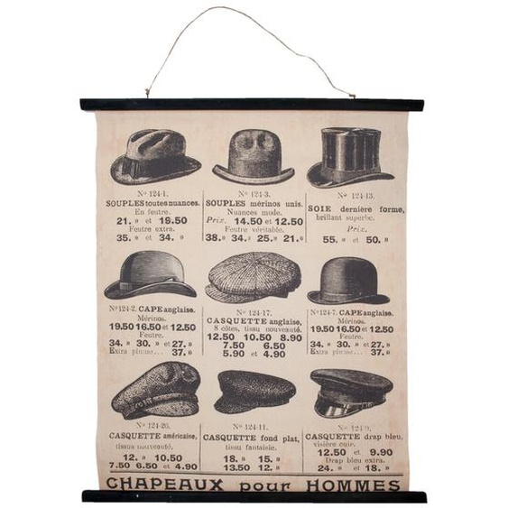 Wandbehang Hüte