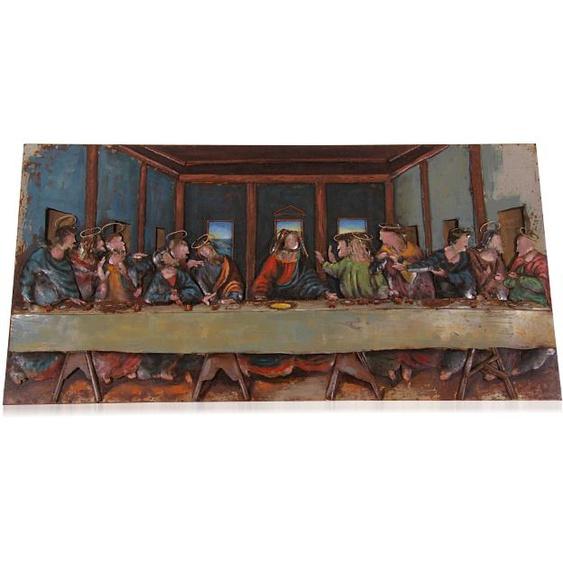Wandbild aus Metall letztes Abendmahl