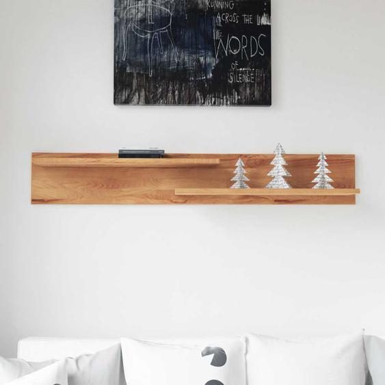 Wandboard aus Kernbuche Massivholz 2 Ablagen