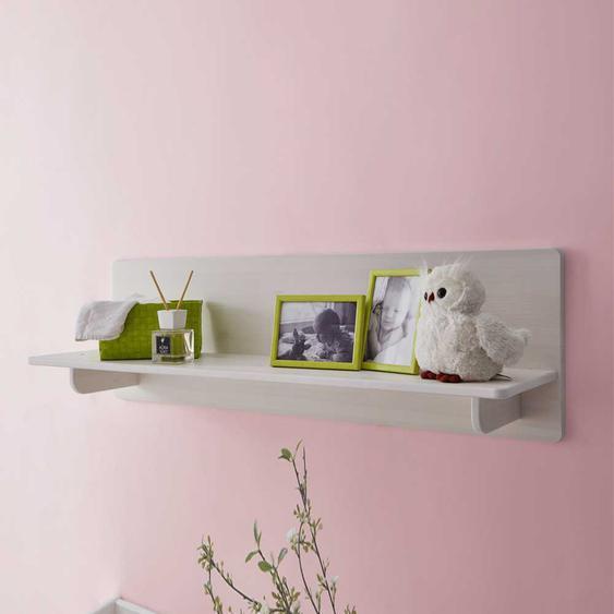 Wandboard für Babyzimmer Weiß Kiefer massiv