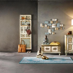 Wanddeko in modischen Metallfarbtönen ca. 77/121/7 cm blau Wanddekoration Deko Wohnaccessoires
