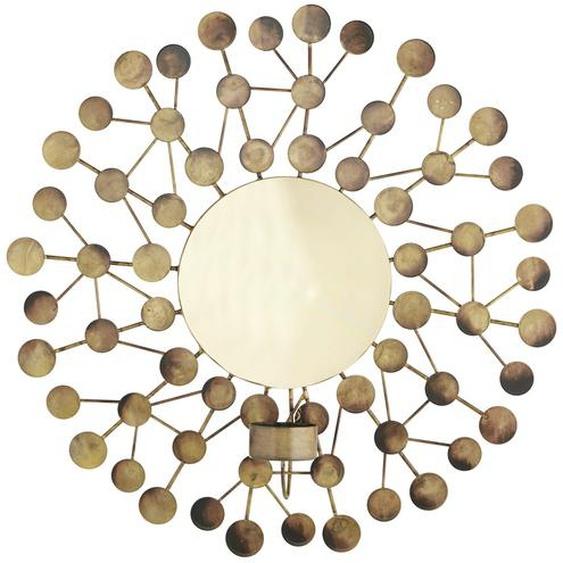 Wanddekoration mit Teelichthalter - gold - Metall | Möbel Kraft