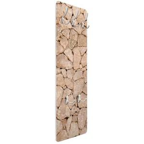 Wandgarderobe Apulia Stone Wall - Alte Steinmauer aus Großen Steinen