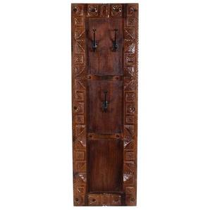 Wandgarderobe aus Teak Massivholz Antik Finish